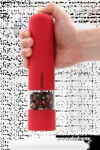 XXL el. mlýnek s LED osvětlením červený