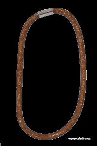 Módní náhrdelník GLITTERING STONES černo-bronzový