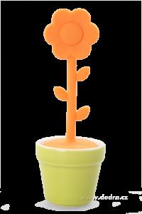 Sítko na sypané čaje oranžové silikon/porcelán