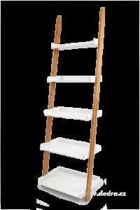 Opěrný pětipatrový regál vysokotlaký bambus