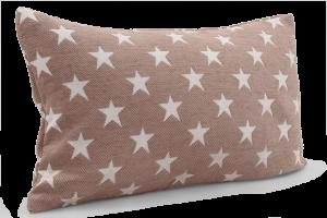 Potah na polštář s motivem hvězd přírodní, 50 x 30 cm