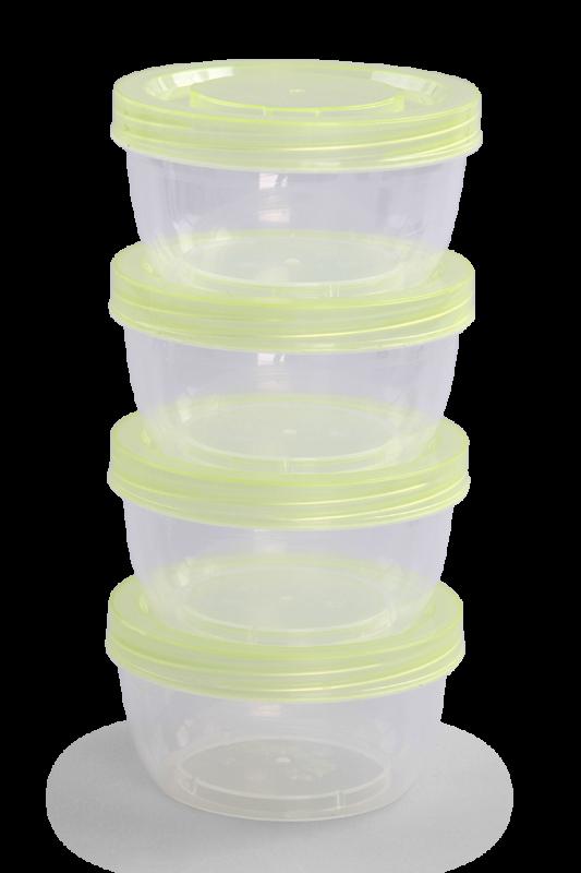 4 ks BOX 180 ml z odolného plastu