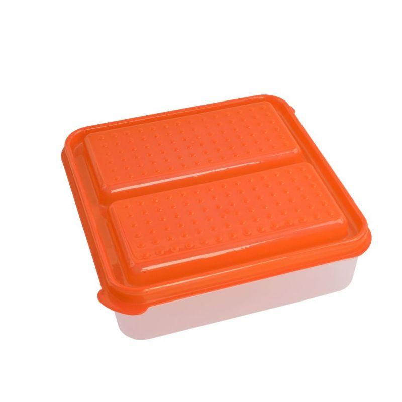 DUOBOX 2in 1 500 + 500 ml dóza na potraviny, oranžový
