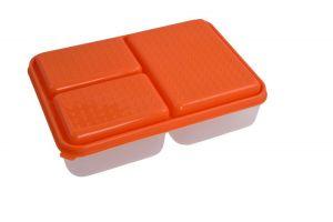 TRIOBOX 3in 1 300 + 300 + 700 ml dóza na potraviny, oranžový