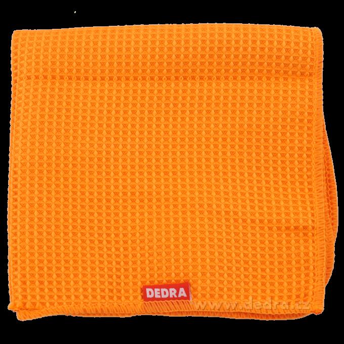 Utěrka z vaflového mikrovlákna oranžová