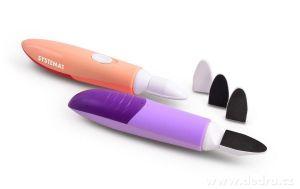 Nehtopilník 3v1 bateriový pilník a leštička lososový