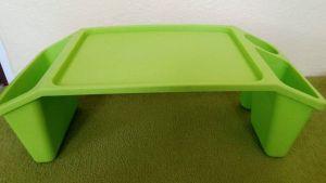 Gaučostolek & postelostolek zelený přenosný stolek