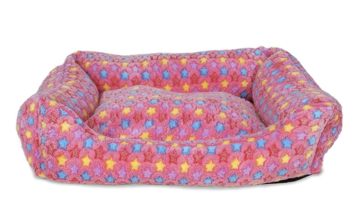 Polstrovaný pelíšek pastelově růžový vel. XL
