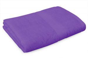 BAMBOO osuška s elegantní bordurou fialová