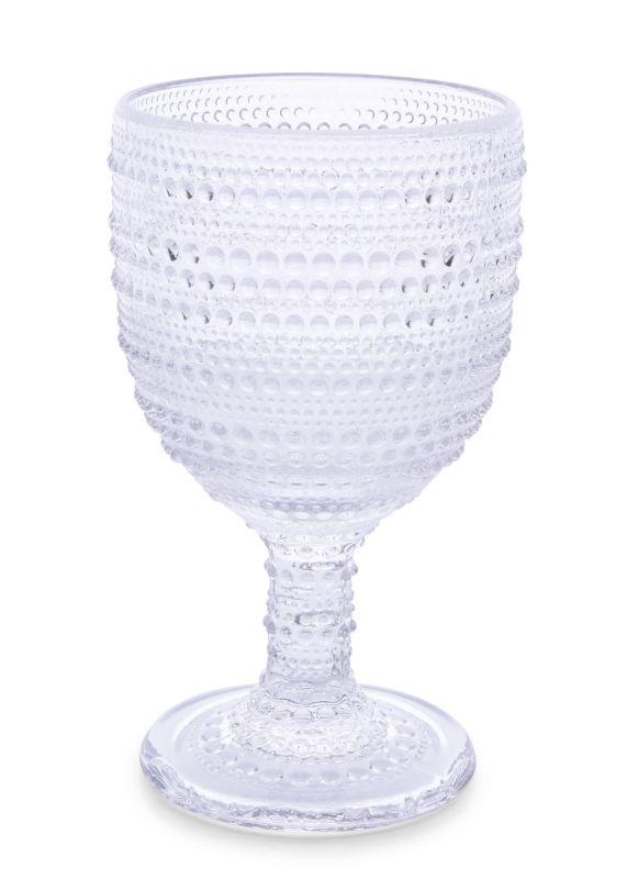 XL Skleněný pohár s reliéfním povrchem objem 340 ml