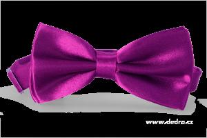 Saténový motýlek burgundsky fialový