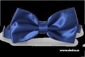 Saténový motýlek tmavě modrý